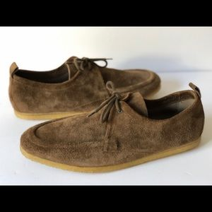 BURBERRY MENS TOBIAS MOCCASINS BROWN SUEDE LEATHER